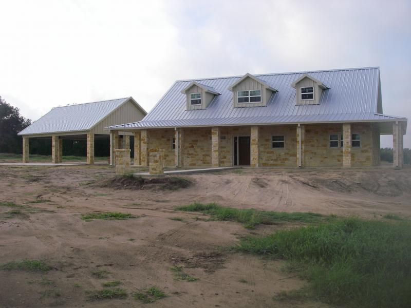 Steel frame homes w limestone exterior more 10 hq for Steel home designs