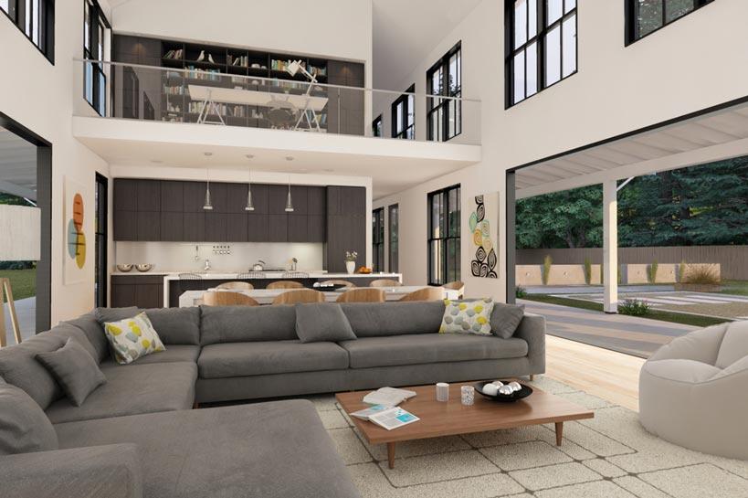 Awesome Blue Beige Living Room Idea