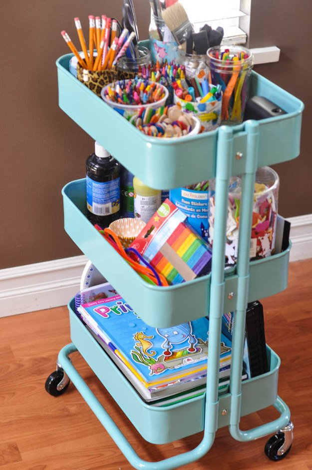 turn-a-bar-cart-into-a-craft-station