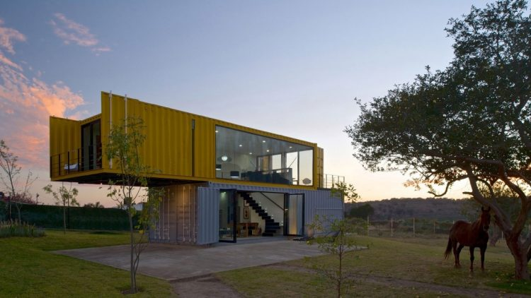 Countryside Houses Made from Shipping Containers