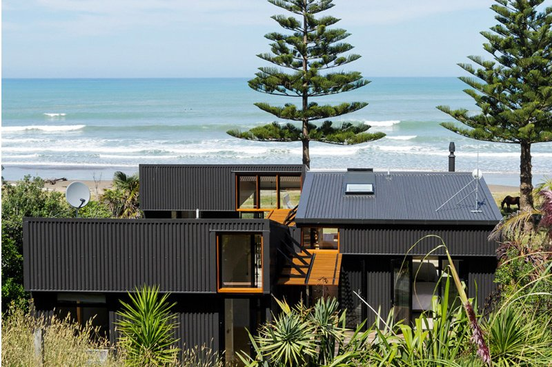 Beach House Made from Shipping Containers