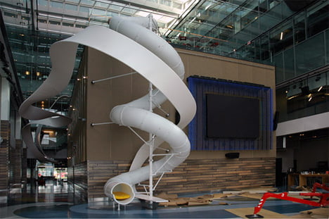 Awesome indoor slide