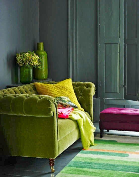 colorful velvet furniture