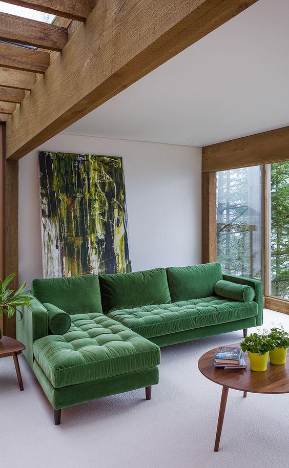 grass green sofa