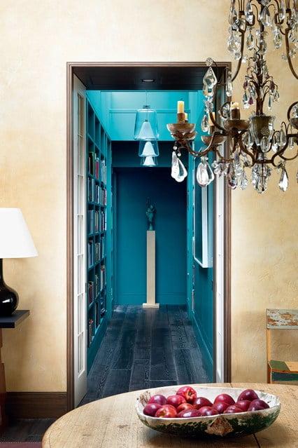 interior, blue, hallway, color, decor, design, dreamhome