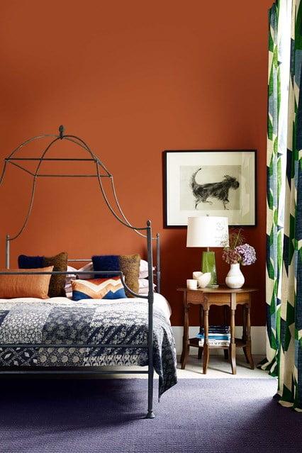brown, color, interior, bedroom, design, decor