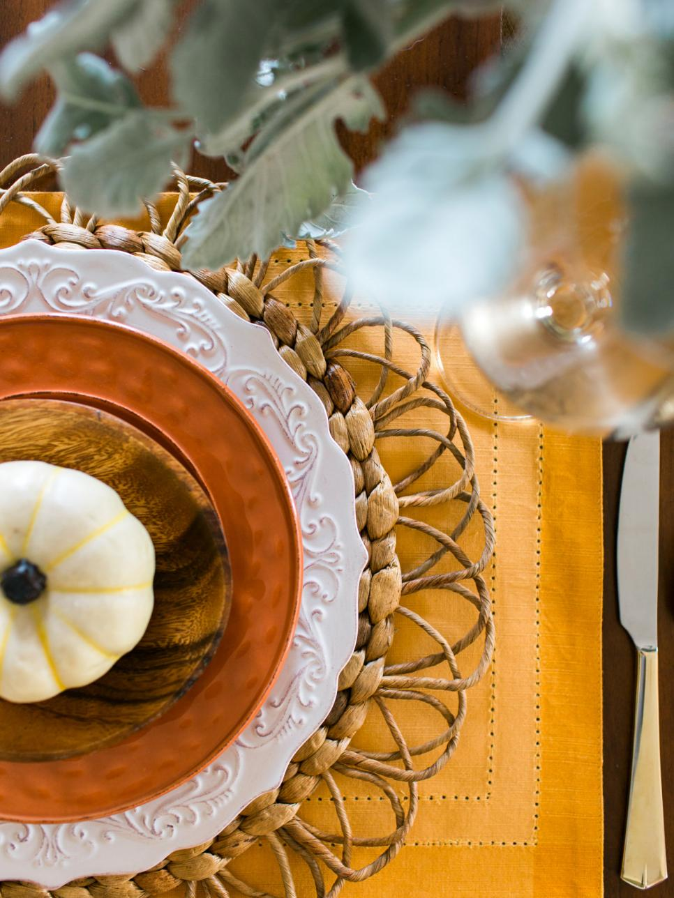 Tablescape fall themed