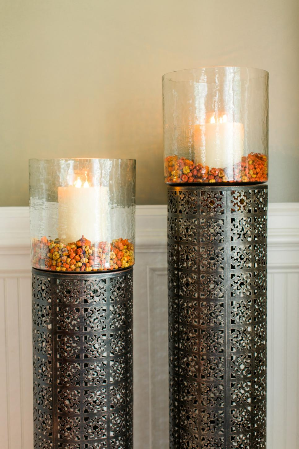 Candles for cozy interior