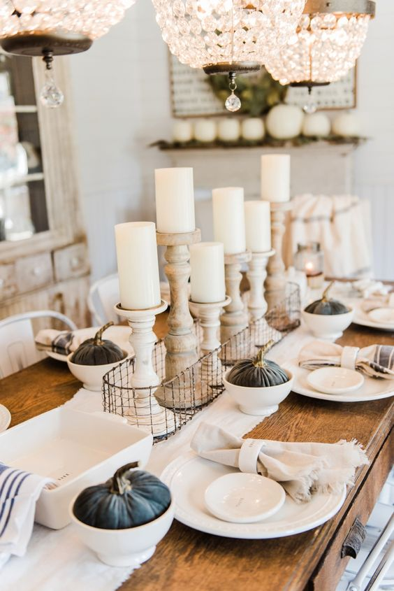 Beautiful composition for festive table