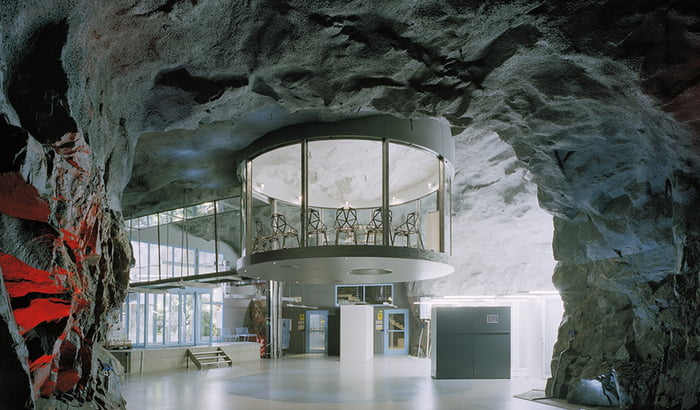 Amazing office location in cave