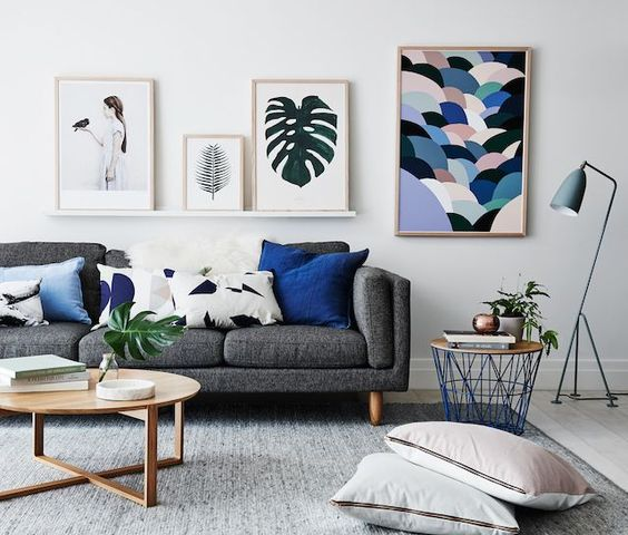 Neutral-colored living room with some decor elements