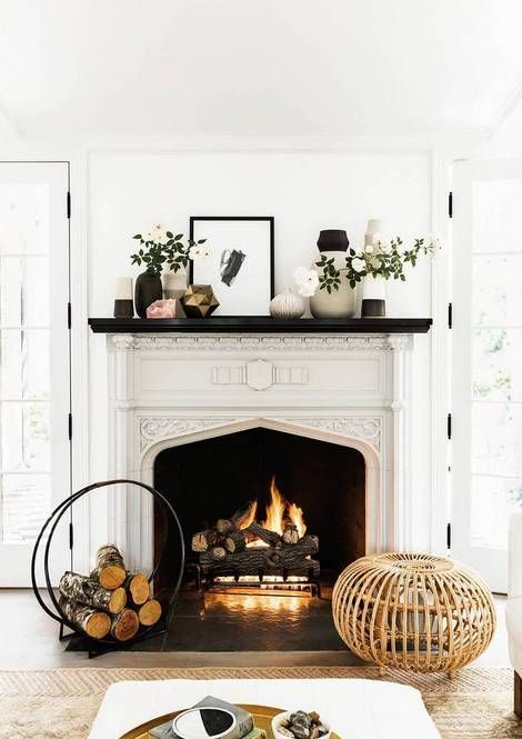 Cozy home with fireplace