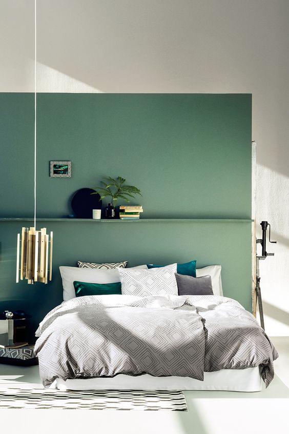 green, bedroom, decor, details, colors, vital