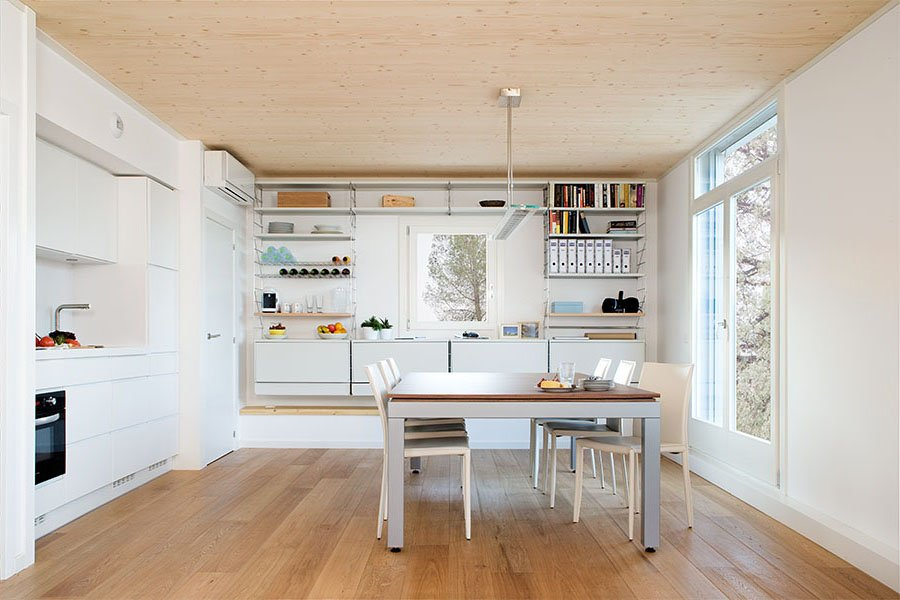 Prefabricated house interior