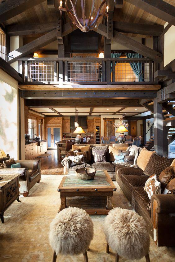 Metal home interior: rustic bedroom