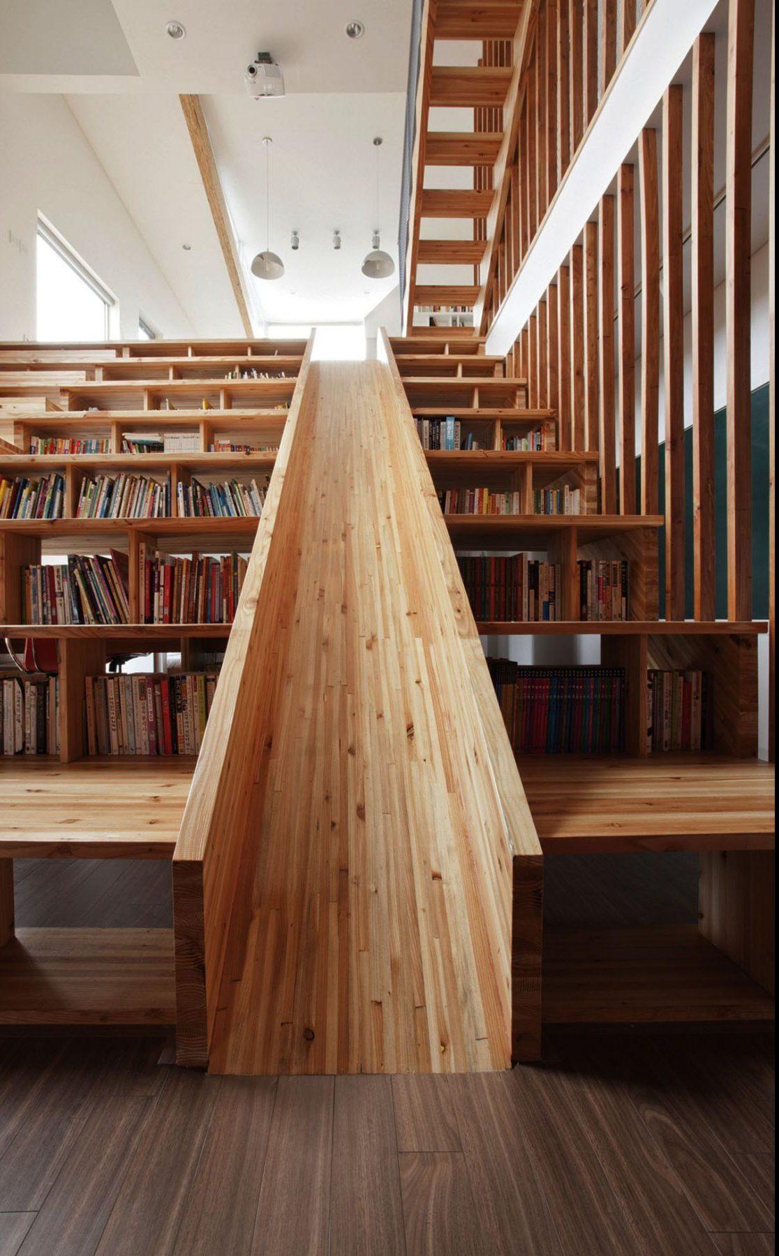 Creative space for kids: indoor slide