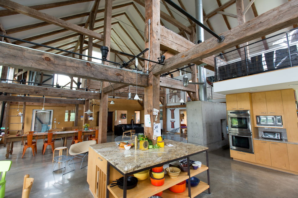 37 Stylish Kitchen Designs For Your Barn Home | Metal ...