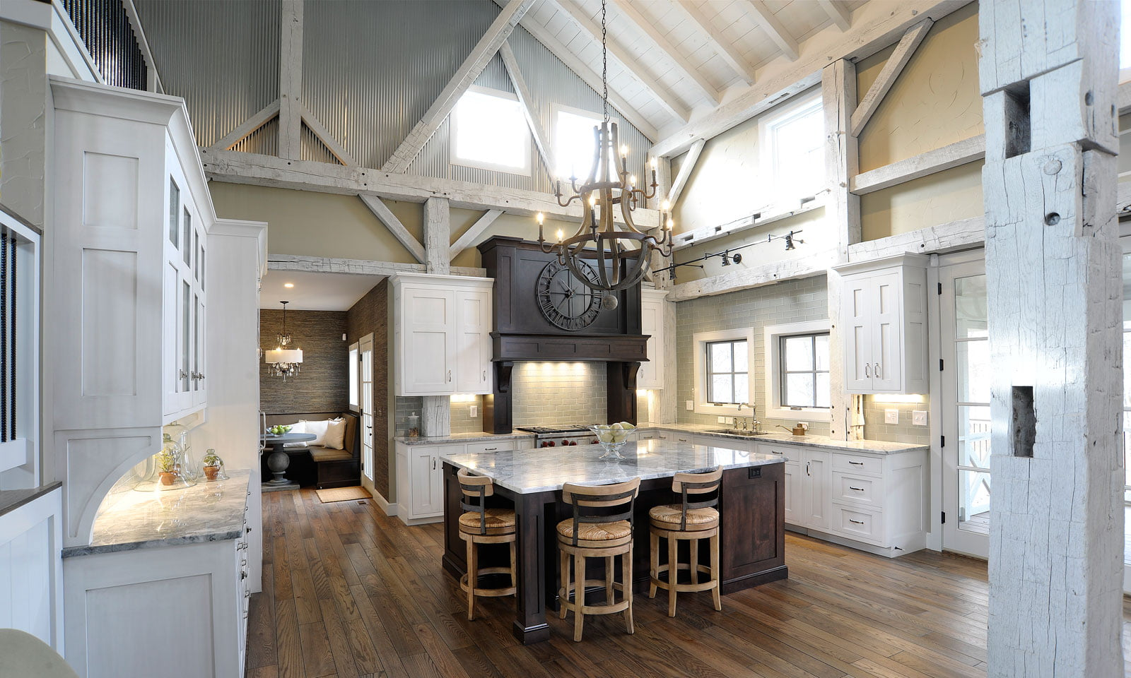 37 Stylish Kitchen Designs For Your Barn Home - Metal ...